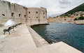 Dubrovnik adriatic sea old croatian city harbor of Stock Image