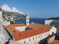 Dubrovnik august croatia franciscan monastery with the sea and lokrum island in the background Stock Image