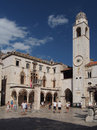 Dubrovnik august croatia luza square a sunny day Stock Photo