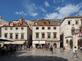 Dubrovnik august croatia stradun the is main street Stock Photography