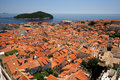 Dubrovnik city and Lokrum island Royalty Free Stock Photography
