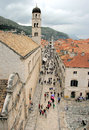 Dubrovnik croatia shows the city of on the adriatic sea Stock Images