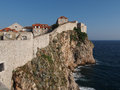 Dubrovnik fortified old town croatia seen from the west Stock Photography
