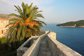 Dubrovnik Fortress Wall Seaview Stock Photos
