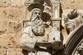 Dubrovnik gothic bas relief wall decore fragment of saints Royalty Free Stock Photos