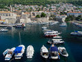 Dubrovnik harbor with boats and yachts Royalty Free Stock Image