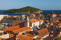 Dubrovnik and Lokrum Royalty Free Stock Image