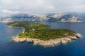 Dubrovnik lokrum island and nature park near croatia Stock Photography