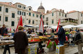 Dubrovnik market croatia may busy day at s on may in croatia Stock Images