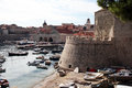 Dubrovnik old port Royalty Free Stock Image