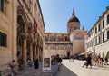Dubrovnik old town and Assumption Cathedral Royalty Free Stock Image