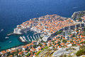 Dubrovnik old town croatia jewel of the adriatic Stock Images