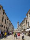 Dubrovnik old town main street croatia Royalty Free Stock Image