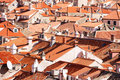 Dubrovnik old town red roofs Royalty Free Stock Photography