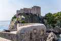 Dubrovnik st lawrence fortress often called s gibraltar is located outside the western city walls metres above sea level the Royalty Free Stock Photography