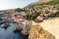 Dubrovnik west defense walls Royalty Free Stock Photo