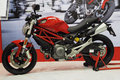 Ducati motorbike show Royalty Free Stock Photos