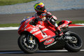 Ducati Pramac Team racer Stock Photography