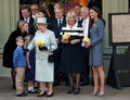 DUCHESS OF CORNWALL, QUEEN ELIZABETH II, DUCHESS OF CAMBRIDGE Royalty Free Stock Photos