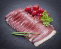 Duck breast fresh on a slate Royalty Free Stock Photos
