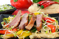 Duck breast with fried noodles Royalty Free Stock Images