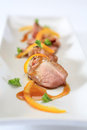 Duck breast with orange sauce roasted Stock Image