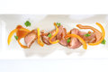 Duck breast with orange sauce roasted Royalty Free Stock Images