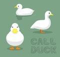 Duck Call Cartoon Vector Illustration