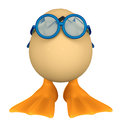 Duck cartoon in egg Royalty Free Stock Images