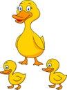 Duck cartoon family
