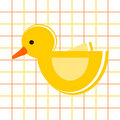 Duck - childish pattern Stock Photo