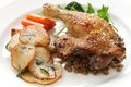 Duck confit de canard french bistro dish Royalty Free Stock Photography