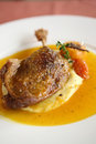 Duck confit , Roasted duck leg Stock Image