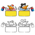 Duck couple characters to promote bird selling bird character d design series Stock Photos