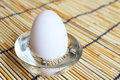 Duck egg in a glass bowl Royalty Free Stock Image