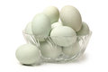 Duck egg on a white Royalty Free Stock Image