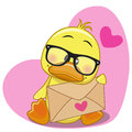 Duck with envelope