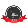 Duck flat icon with name