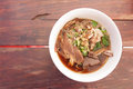 Duck noodle taste delicious in thailand Stock Photos