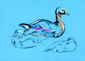 Duck painting Royalty Free Stock Photography