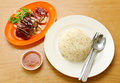 Duck with rice delicious asia food Royalty Free Stock Photo
