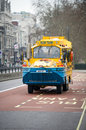 Duck tour bus in london england feb on february buses are amphibious vehicles tours are primarily offered as Stock Image