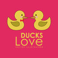 Ducks design over pink background vector illustration Royalty Free Stock Photo