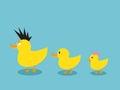 Ducks a la familia Fotos de archivo libres de regalías
