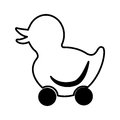 Ducky wheels isolated icon