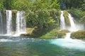 Duden waterfalls carve through karst formations near antalya turkey Stock Image