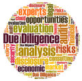 Due diligence word cloud isolated Stock Photos