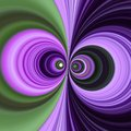 Dueling swirls two purple and green looking as eyes Royalty Free Stock Images