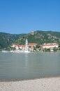 Duernstein wachau danube river austria view of in valley at Stock Image