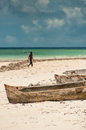 Dugout Boats on Beach Royalty Free Stock Photo